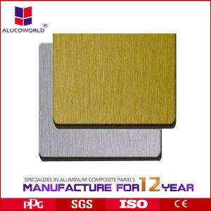 Alucoworld Golden Brushed Aluminum Composite Panel (ALK-C0891) pictures & photos