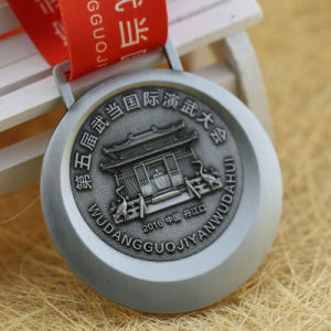 Jiabo Supply Antique Silver Embossed 3D Custom Kungfu Medals pictures & photos