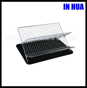 25 Line X Shape Folding Iron Wire Dish Dry Rack
