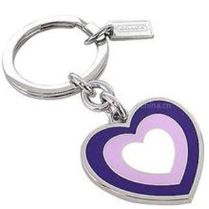 Custom Personalised Metal Keyrings with Colorful Heart Shape (GZHY-KA-007) pictures & photos
