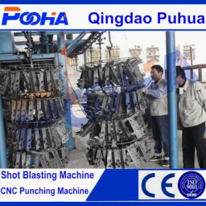 CE Quality Hanging Hook Type Steel Castings Shot Blasting Machine pictures & photos