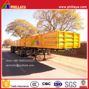 3 Axle Side Wall Type Cargo Transport Semi Trailer for Sale pictures & photos