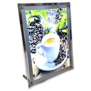 Plexiglass Acrylic Crystal LED Photo Frame Light Box pictures & photos