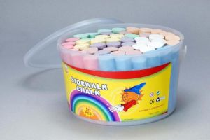 50PCS Sidewalk Chalk with Transparency PP Bucket pictures & photos