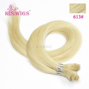 Top Quality Indian Double Drawn Remy Hair Handtied Hair Weft pictures & photos