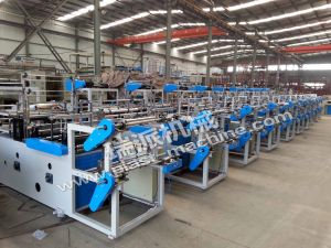 Plastic Double Layer Rolling Biodegradable Bag Machine pictures & photos