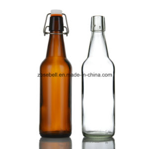 1L Glass Beer Bottle with Flip Cap pictures & photos