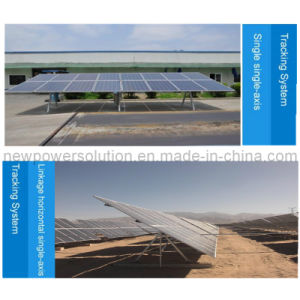 Horizontal Axis Solar Tracking System for Large and Medium-Sized Solar Power Stations