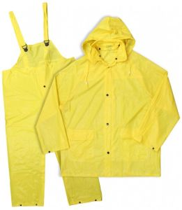 Waterproof PVC Rain Suit Yellow Raincoats Rain Jackets pictures & photos