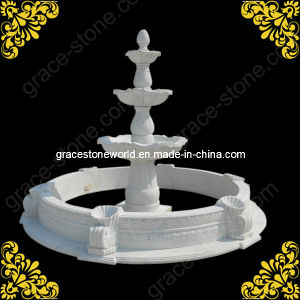 Carved Stone Fountain with Pool GS-F-133 pictures & photos