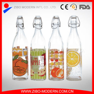 Wholesale Cheap Clear Glass Soft Drink Storage Bottle 1000ml for Milk pictures & photos