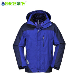 Sponge/PU Breahable 3 in 1 Outdoor Jacket pictures & photos