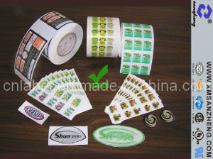 Custom Color Adhesive Sticker Printing (SZ3136) pictures & photos