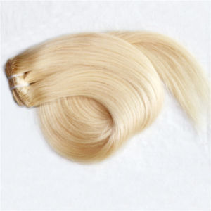 High Quality Clip-Hair Extension Remy Peruvian Human Hair pictures & photos