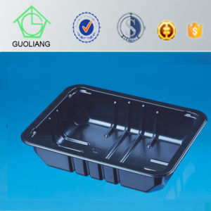 Custom Made Wholesale Disposable Black Plastic Microwave Container for Food Packaging pictures & photos