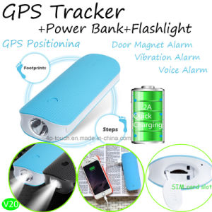 Power Bank Mini GPS Tracekr with Flashlighting & Geo-Fence (V20) pictures & photos
