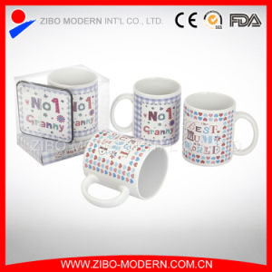 11oz Cylinder Shape Mug with Imprint pictures & photos