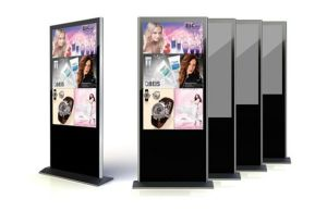 LCD Digital Signage, Stand Display, HD 1080P, Multiple Information System