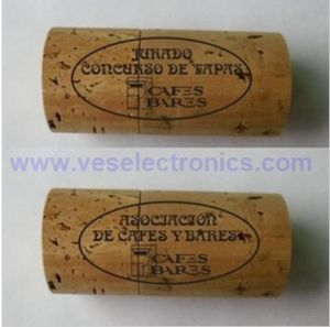 OEM Gift Wooden Winery Cork USB Flash Drive pictures & photos