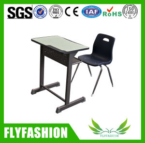 Commecial Classroom Furniture Single Student Desk with Plastic Chair (SF-24S) pictures & photos