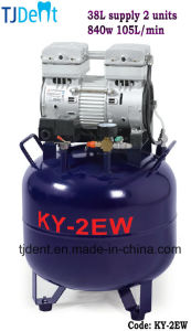 Ce Noiseless 38L Supply Two Unit Dental Air Compressor (KY-2EW) pictures & photos