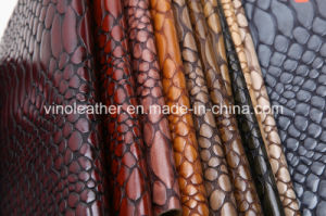 Knife Process Crocodile Grain PU Leather for Shoes Upper
