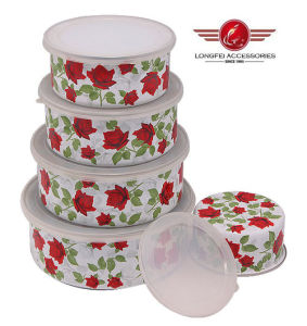 2014 New Style High Quality Enamel Bowl with Lid pictures & photos