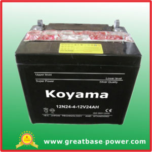 12V24ah Deep Cycle Maintenance Free Dry Charge Motorcycle Battery 12n24-4 pictures & photos