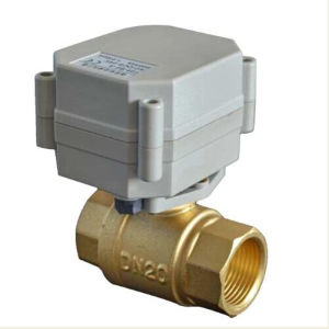 Miniature 2 Way Motorized Control Brass Ball Valve (T20-B2-A) pictures & photos