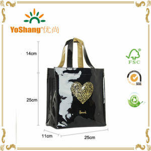Hot Sale Famous Shiny PVC Handled Harrods Shopping Tote Bags pictures & photos