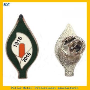 Customized Logo Hard Enamel Silver Plating Label Pin