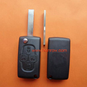Citroen 4 Button Remote Key Blank with 407 Blade (HU83 Blade -4 Button- No battery place) (No Logo)