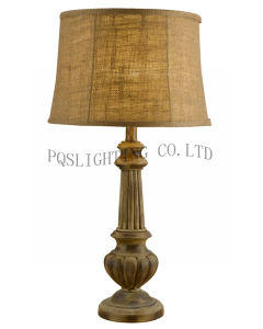 Brown Antique Home or Hotel Decoration Table Lamp (P0090TA)