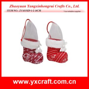Christmas Decoration (ZY16Y029-1-2 14CM) Boot for Christmas Supply Alibaba China pictures & photos