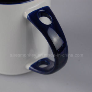 Top Grade Wholesale White Blank Orca Coatings Ceramic Mug with Spoon pictures & photos