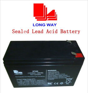 12V8ah Light Fire&Security UPS Solar Lead Acid Battery pictures & photos
