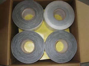 Butyl Underground Anticorrosion Pipe Wrap Tape, Self Adhesive Wrapping Bitumen Duct Tape, Polyethylene PE Waterproof Outer Tape pictures & photos