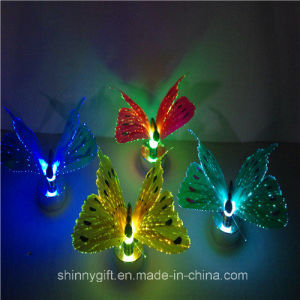 Color Changing Home Decoration Light LED Fiber Optic Butterfly