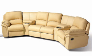 Comfortable VIP Home Theater Sofa Leather Recliner (YA-608) pictures & photos