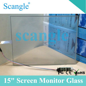 "15"" LCD Monitor Glass Transparent Glass Screen Glass POS Monitor (SGT-15) pictures & photos"