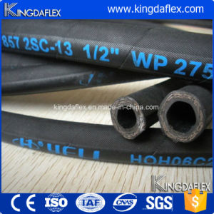 Flexible High Pressure Steel Wire Reinforced Industrial Hydraulic Rubber Oil Hose (En857 2sc) pictures & photos
