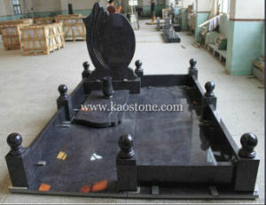 European Style Granite Grave Stone-Shanxi Black pictures & photos