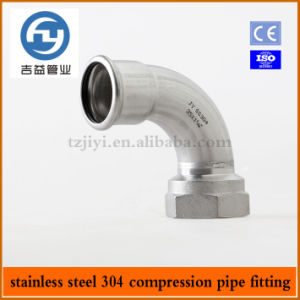 Stainless Steel Pipe Press Fitting 90 Degree a Type Female Elbow