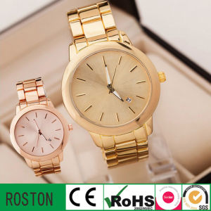 Fashion Women Stainless Steel Analogue Quartz Girl Wrist Watch pictures & photos
