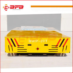 Battery Powered Heavy Load Electric Motorized Trackless Transfer Trolley pictures & photos