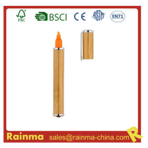 Bamboo Highlighter Marker Pen for Eco Stationery pictures & photos