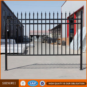 Decorative Powder Coated Industrial Steel Picket Fence pictures & photos