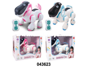 Remote Control Dog Plastic Toy with Music and Light (043623) pictures & photos