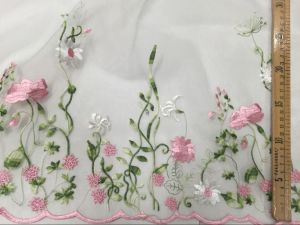 Flower Embroidery Lace Fabric for Girl′s Clothes pictures & photos
