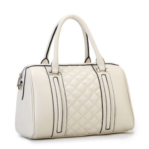 Embroidery Faux Animal Skin PU Leather Lady Handbag (XD140121)